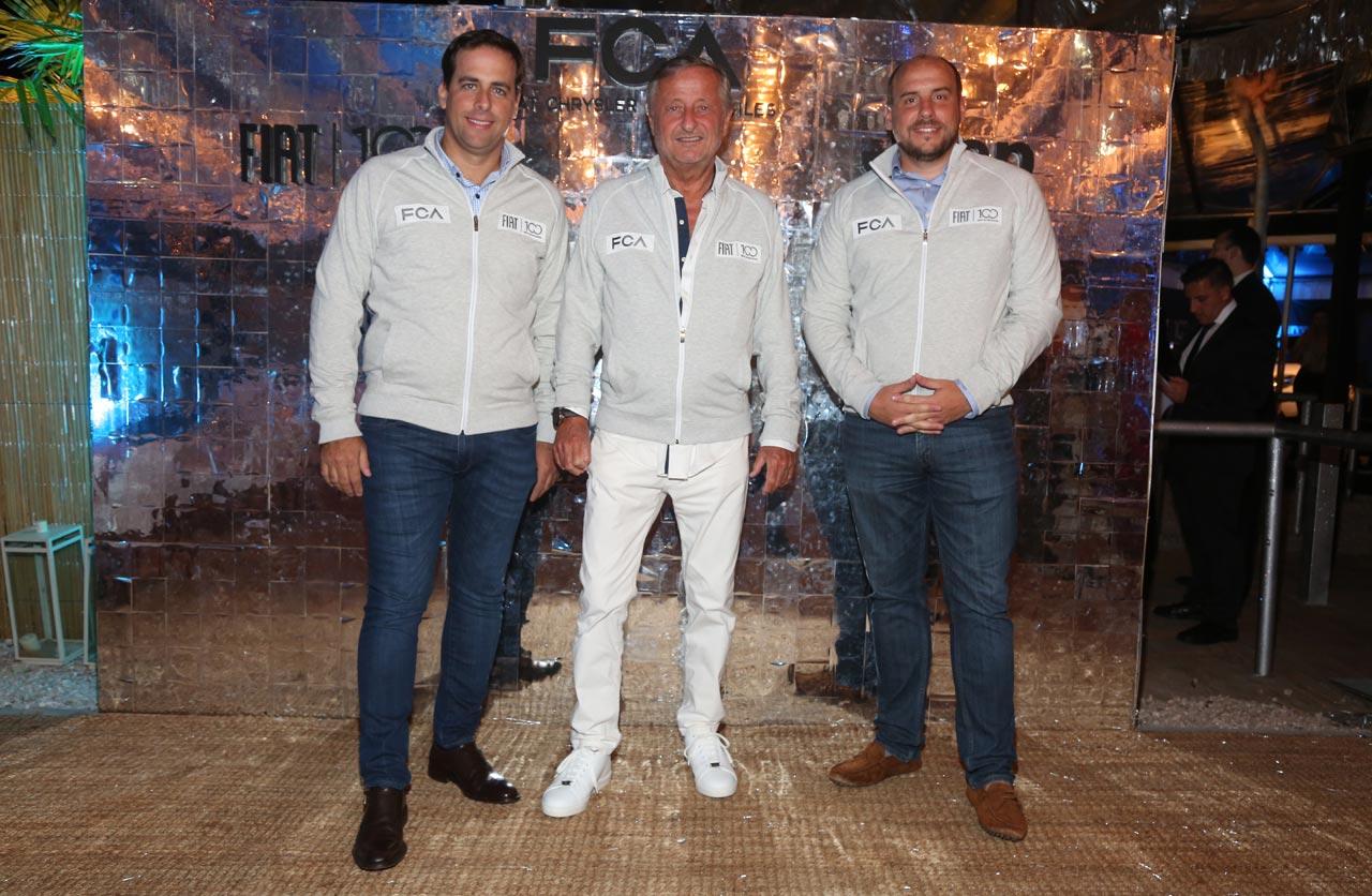 Martin Zuppi, Director General, Cristiano Rattazzi y Pablo Garcia Leyenda, Director Comercial de FCA