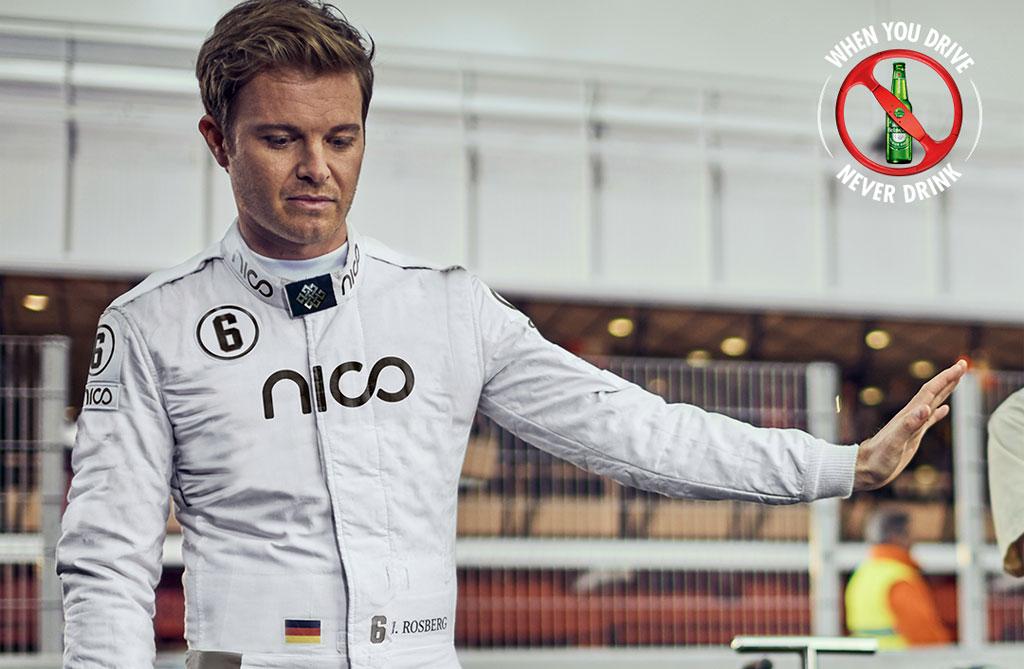 Nueva campaña de Heineken con Nico Rosberg para promover el consumo responsable