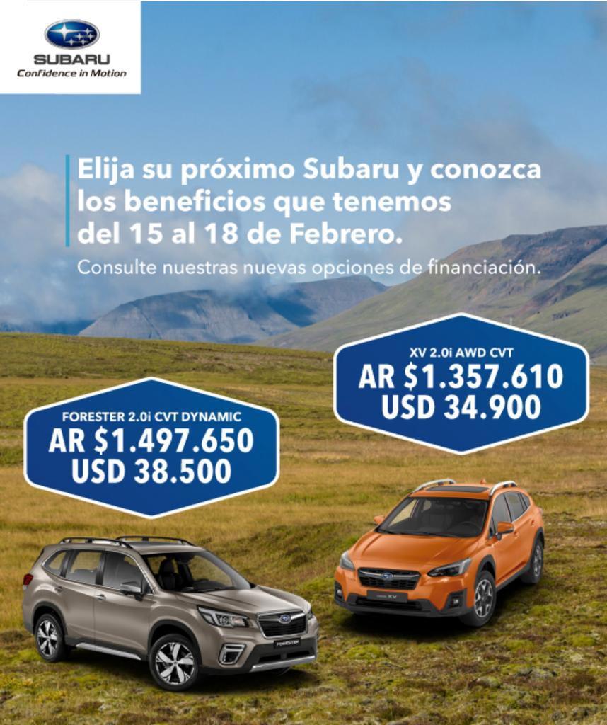 Promociones Subaru febrero de 2019
