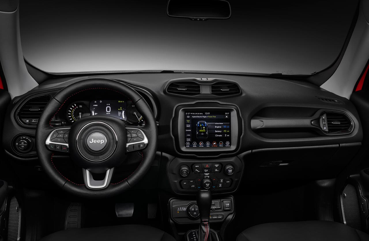 Interior Jeep Renegade híbrido