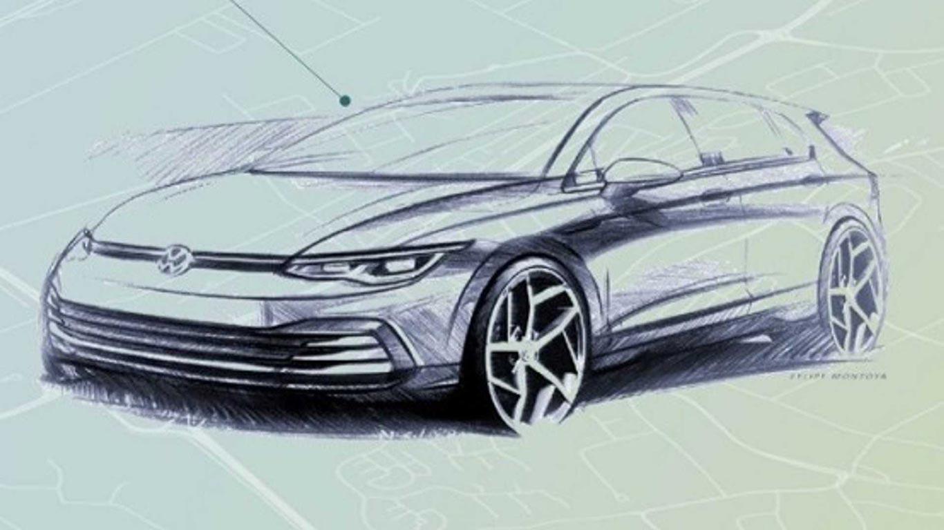 Boceto nuevo Volkswagen Golf mk8