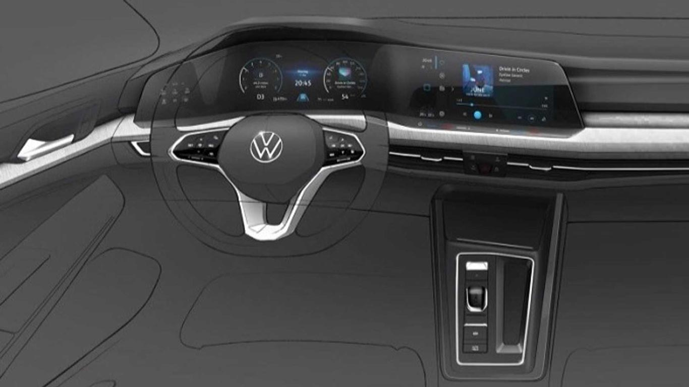 Interior nuevo Volkswagen Golf mk8