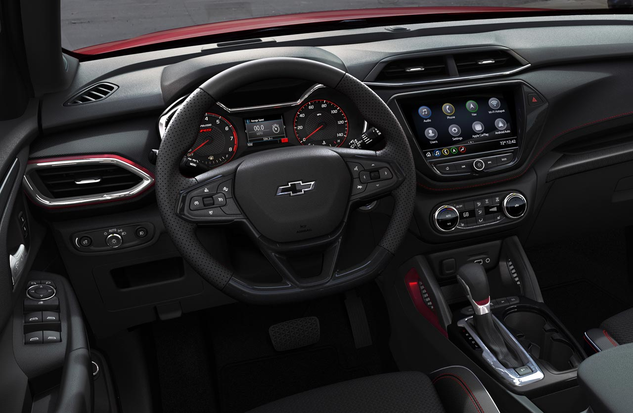 Interior nueva Chevrolet Trailblazer 2021