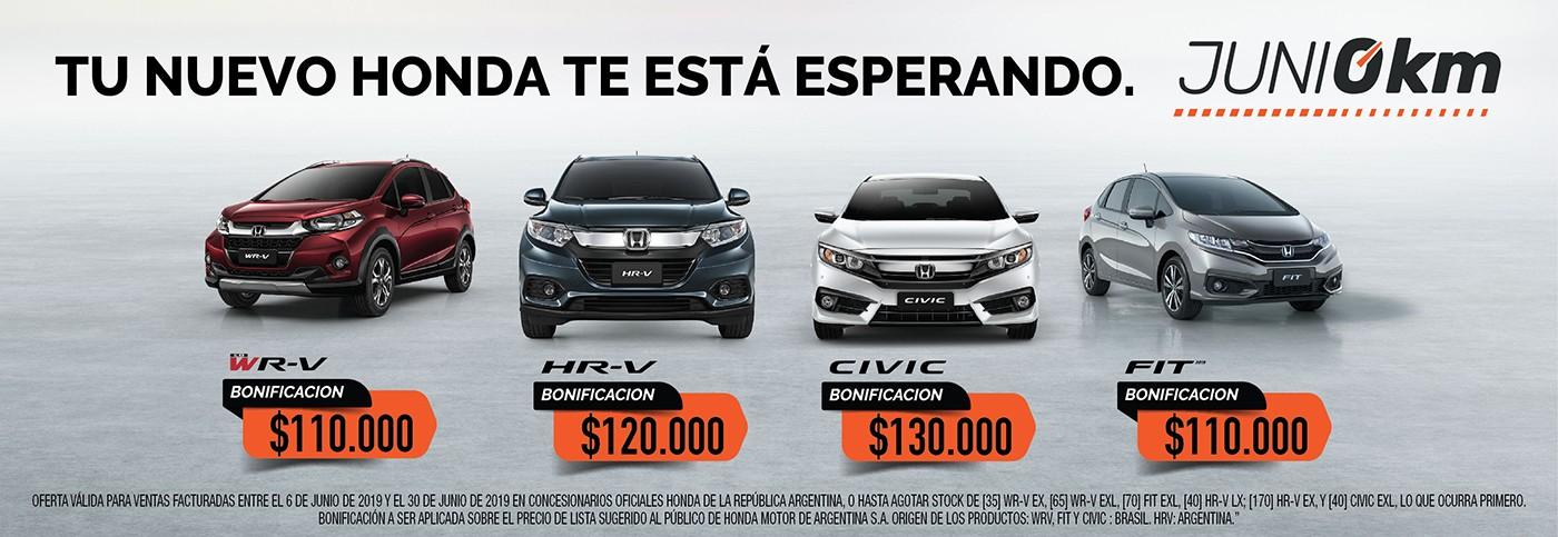Honda descuentos programa Junio 0KM