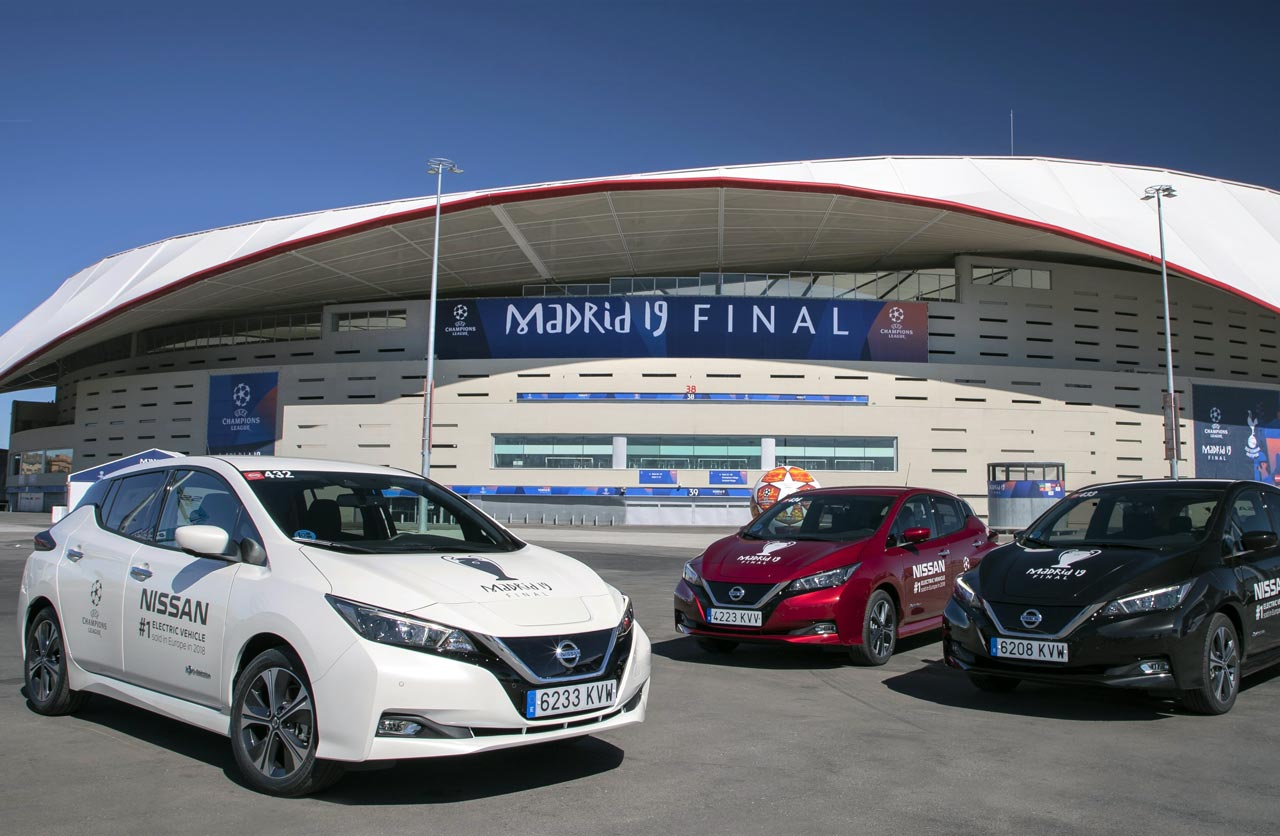 El Nissan Leaf electrifica la final de la UEFA Champions League 2019
