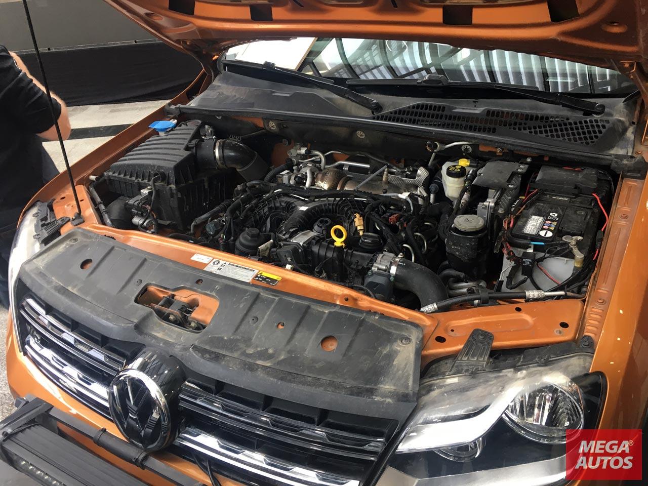 La Amarok V6 con el motor con 224 caballos.