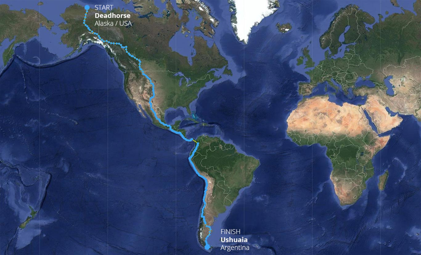 Mapa Proyecto Panamericana 2019
