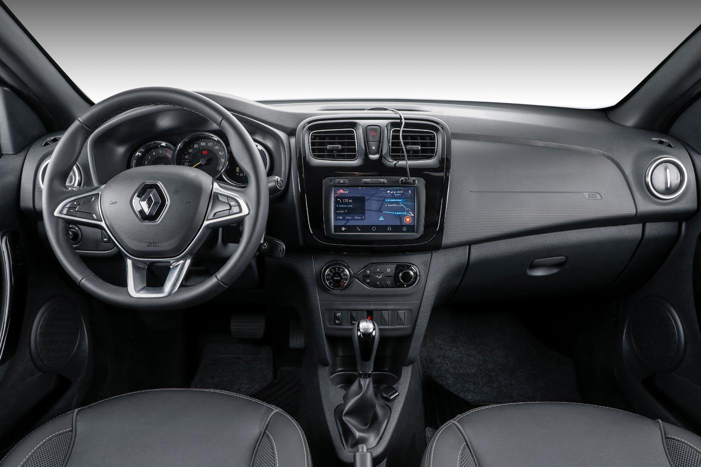 Interior nuevo Renault Sandero 2020 cuero