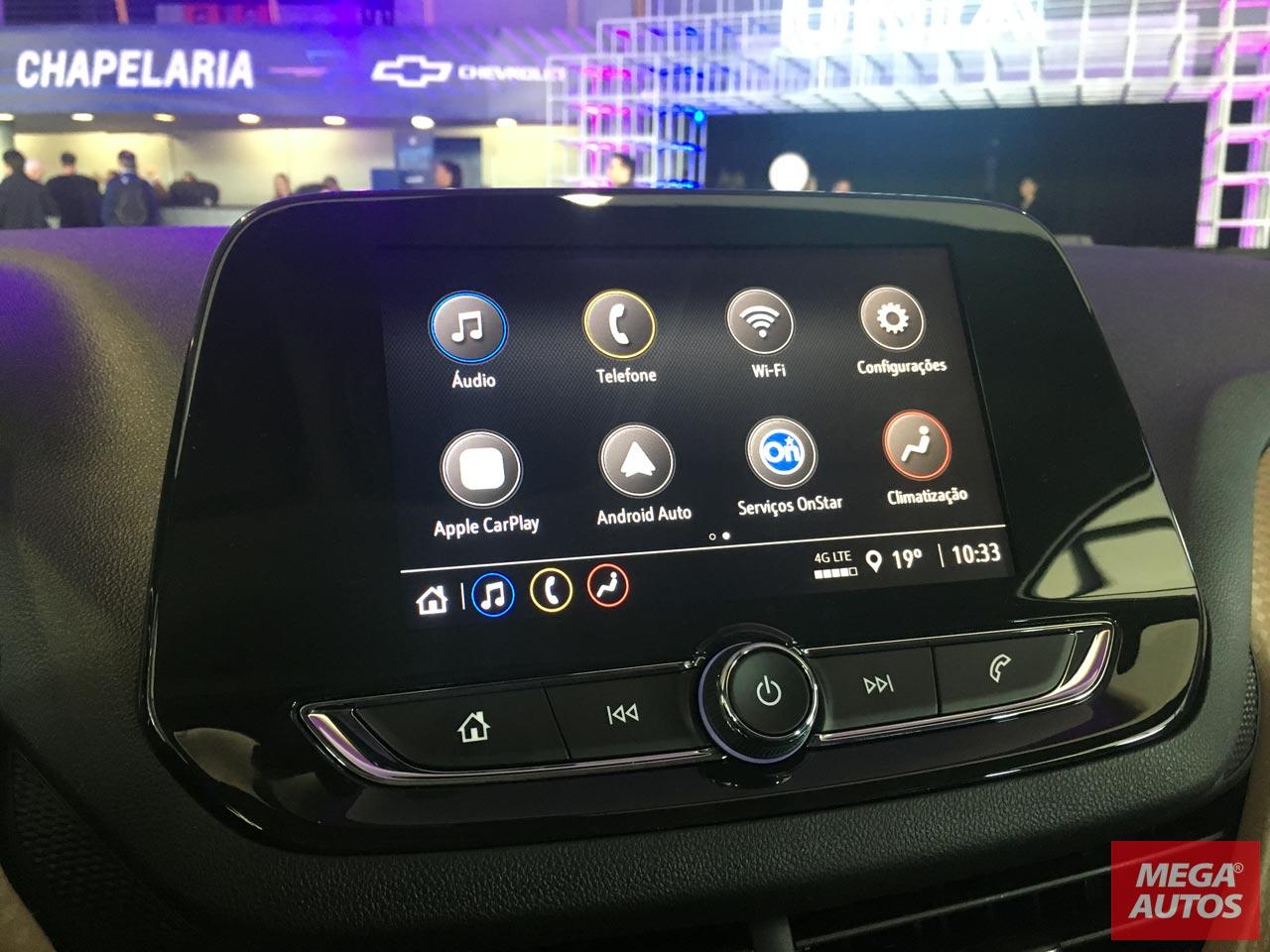 Pantalla Nuevo Chevrolet Onix Plus