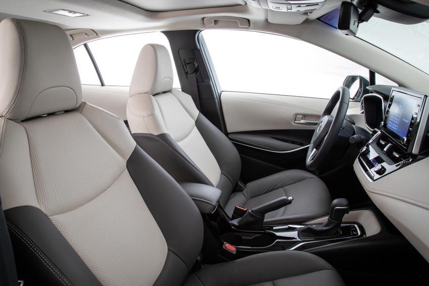 Interior Nuevo Toyota Corolla híbrido 2020 regional (Brasil)