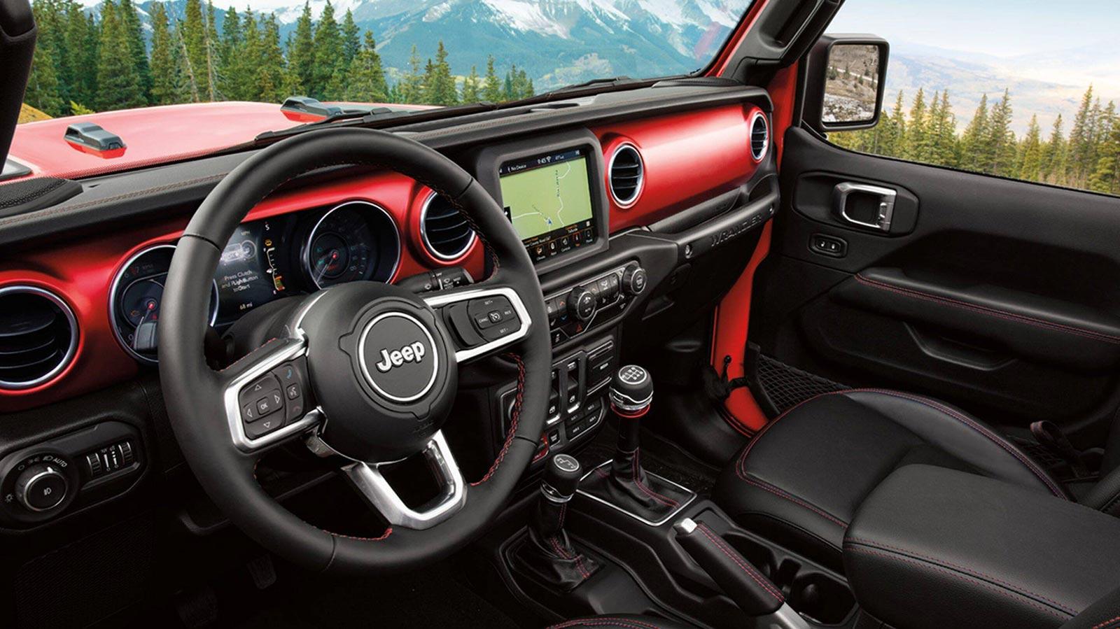 Interior nuevo Jeep Wrangler Rubicon