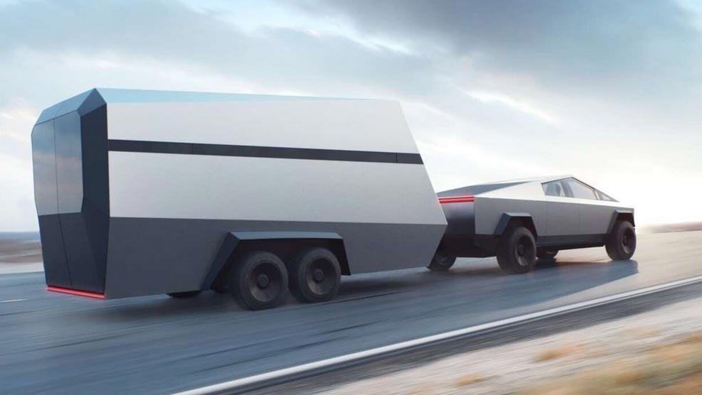 Tesla Cybertruck remolque