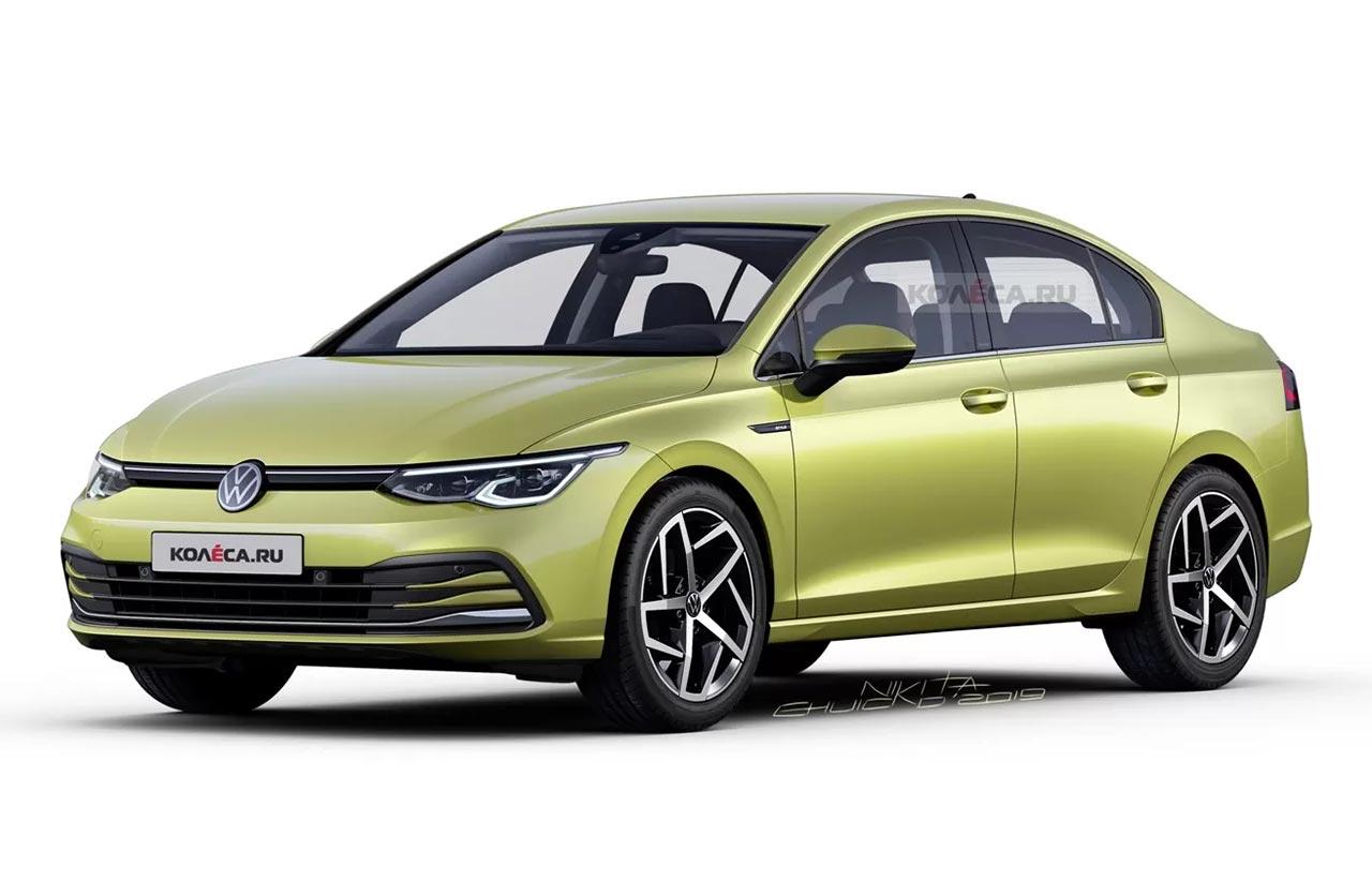 Un Volkswagen Vento basado en el Golf 8