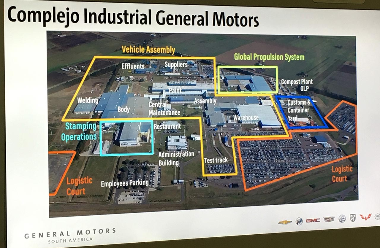 Mapa Complejo Industrial General Motors Alvear