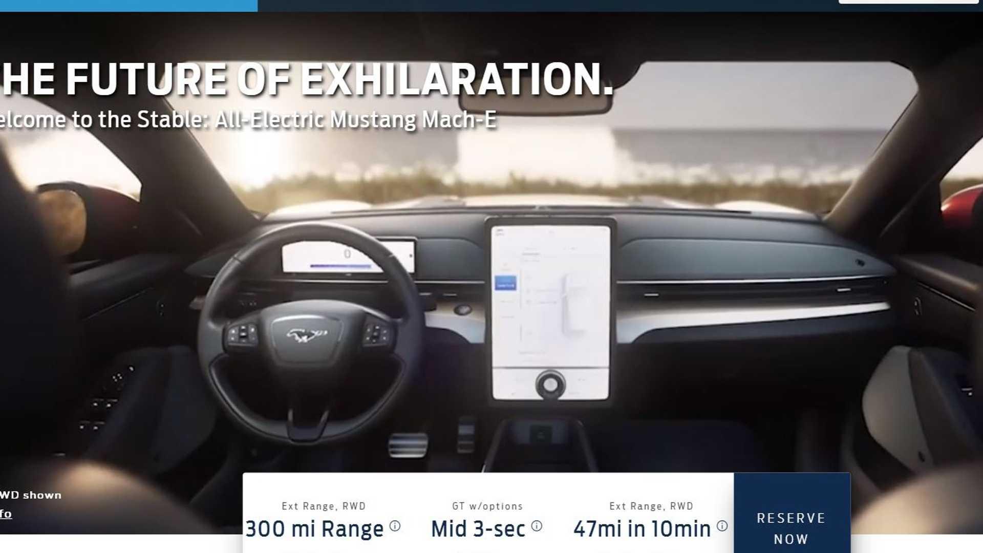 Interior Mustang Mach-E