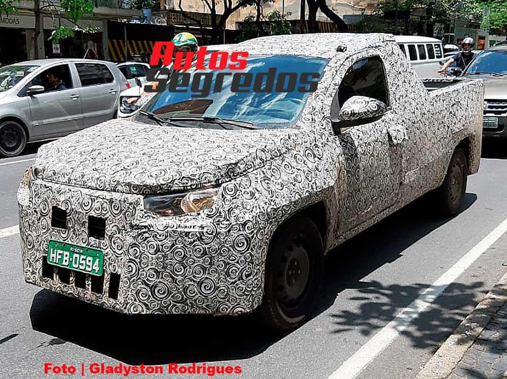 Fiat Strada 2021 foto espía