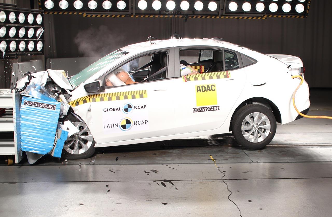 Nuevo Chevrolet Onix sedán Latin NCAP