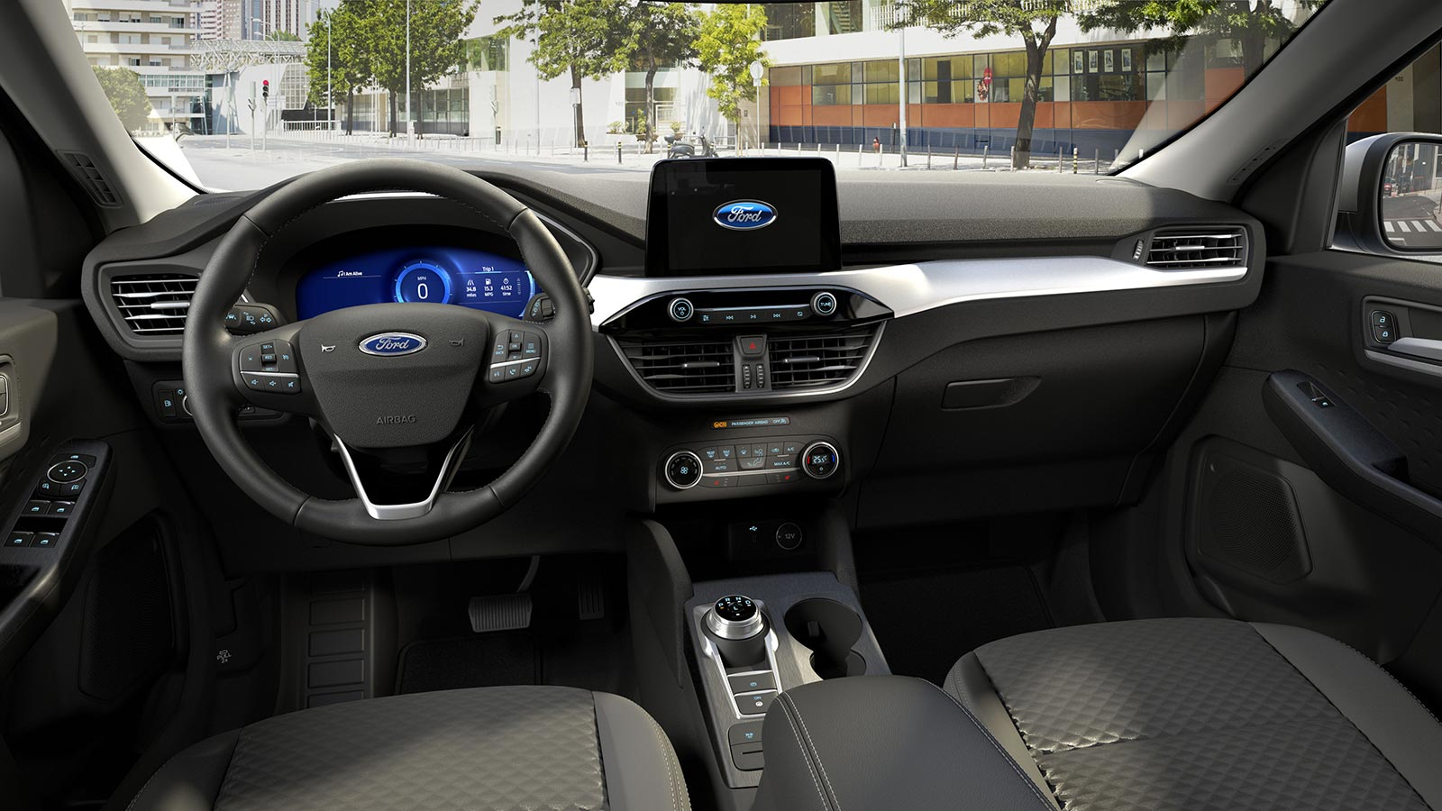 Interior Nueva Ford Kuga híbrida