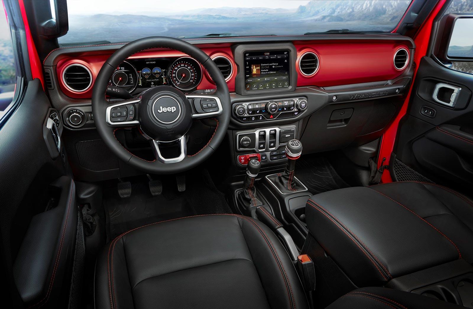 Interior Nuevo Jeep Wrangler JL Rubicon