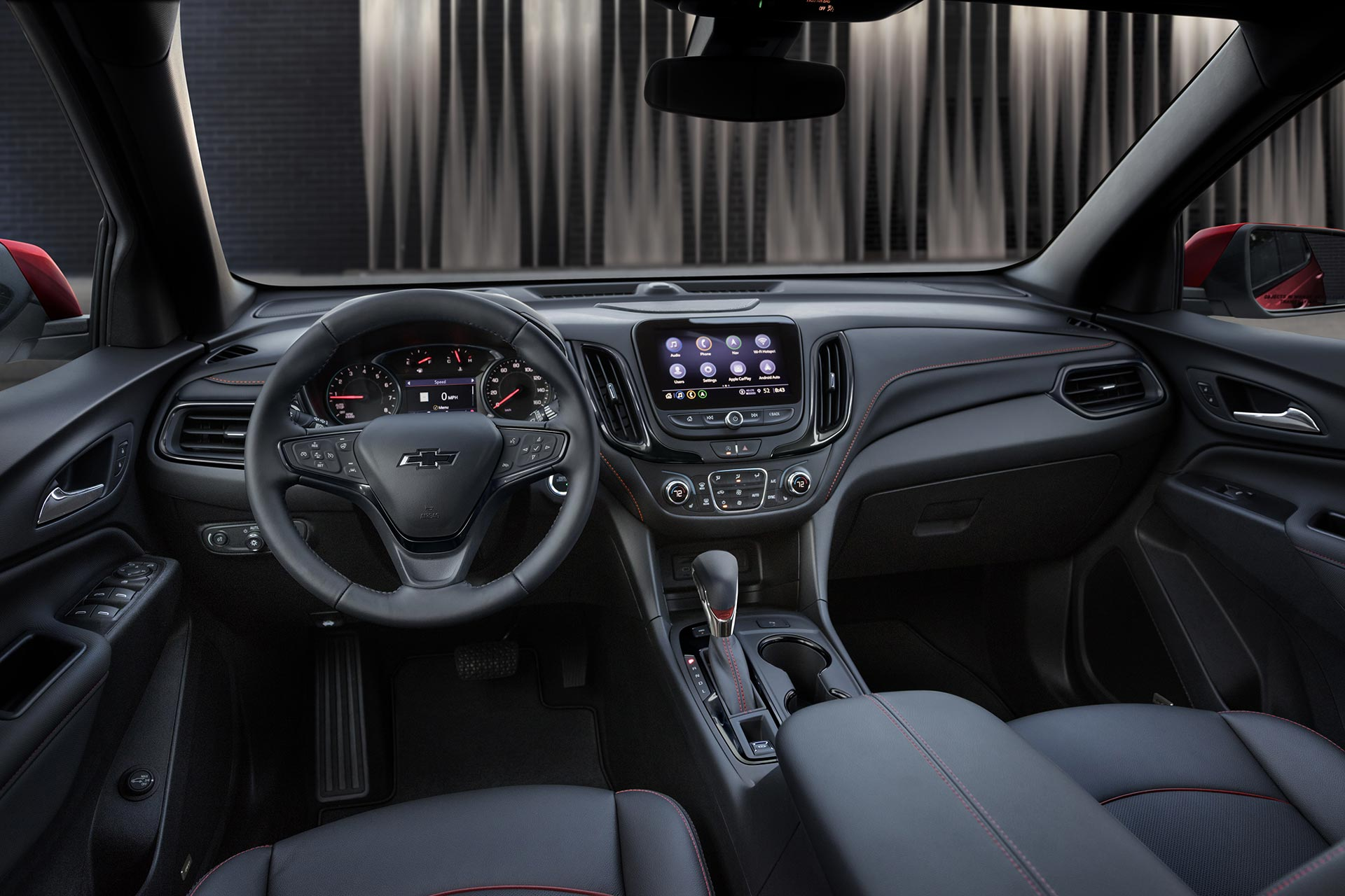 Interior nueva Chevrolet Equinox RS 2021