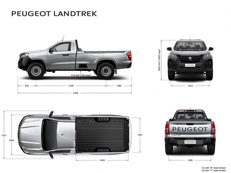 medidas Peugeot Landtrek cabina simple