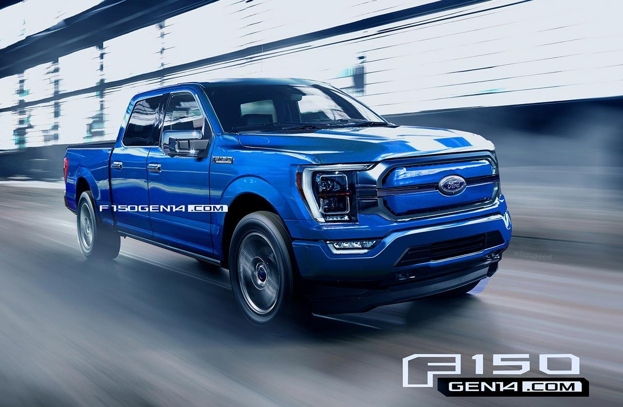 Ford F-150 2021 eléctrica recreación