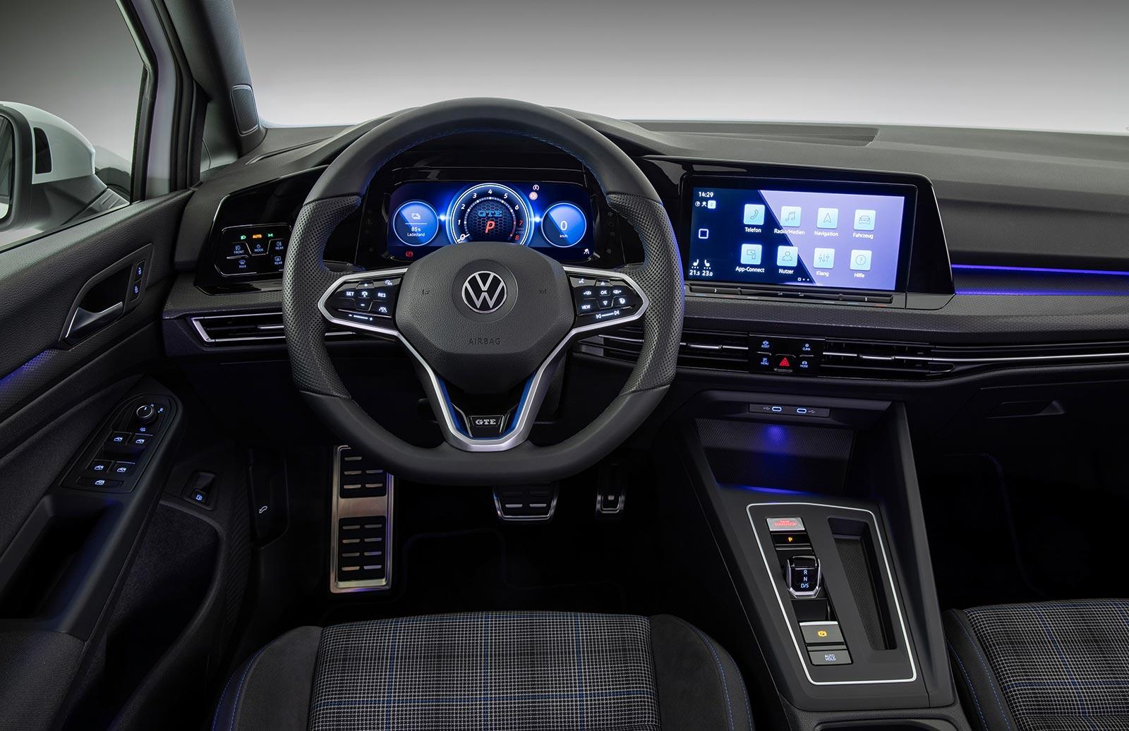 Interior Nuevo Volkswagen Golf 8 GTE