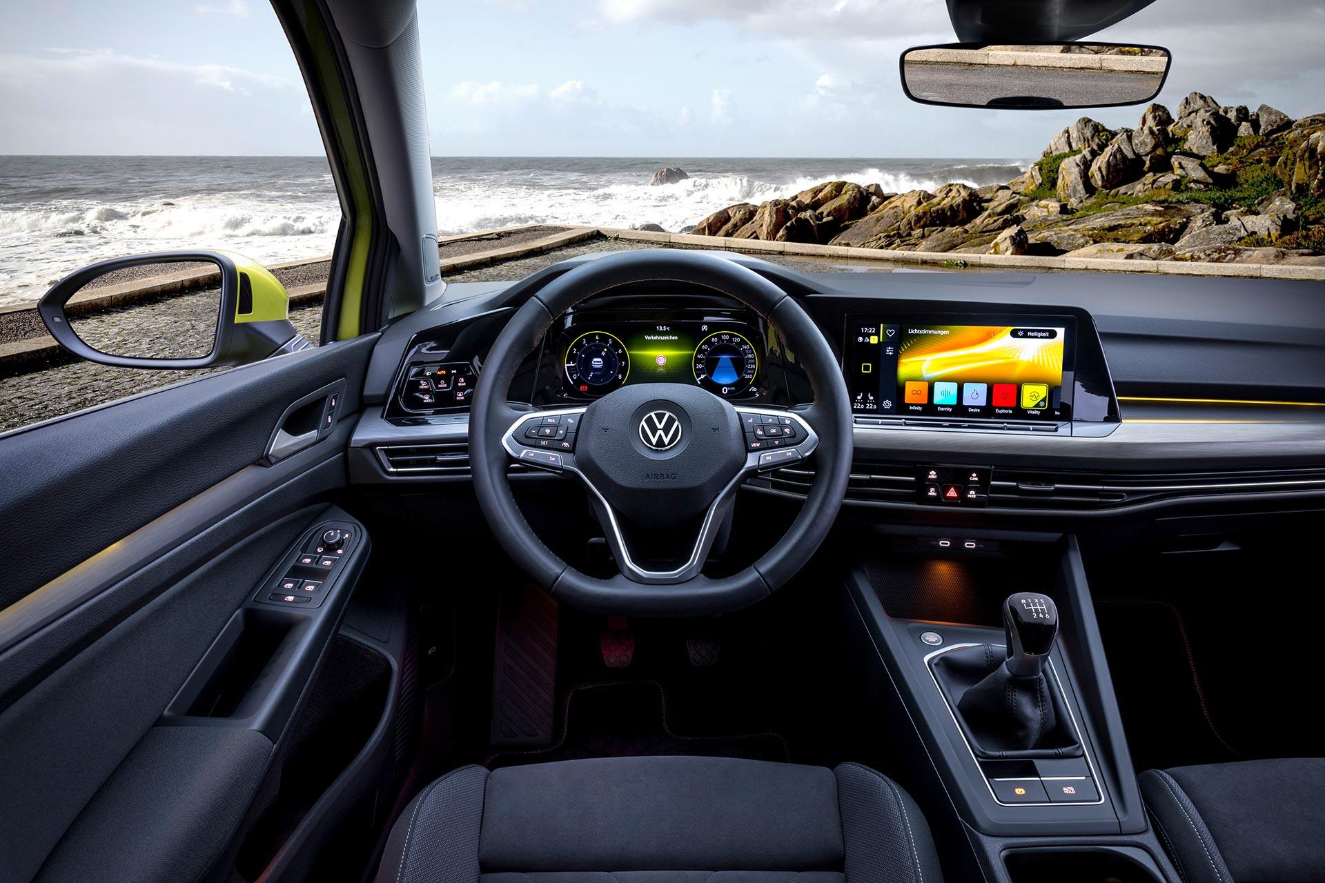 Interior Nuevo Volkswagen Golf 8