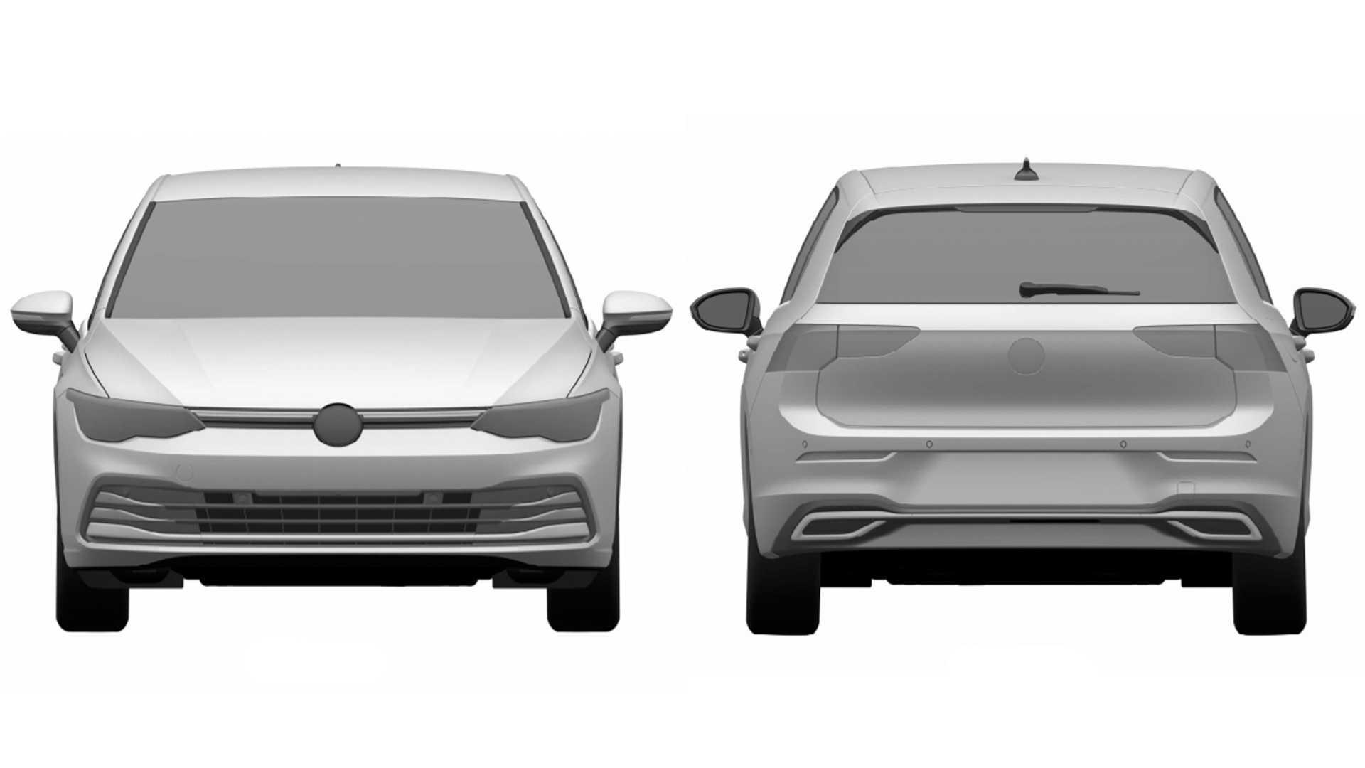 Nuevo Volkswagen Golf 8 INPI Brasil