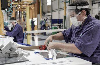 Ford Argentina produjo y donó 20.000 protectores faciales