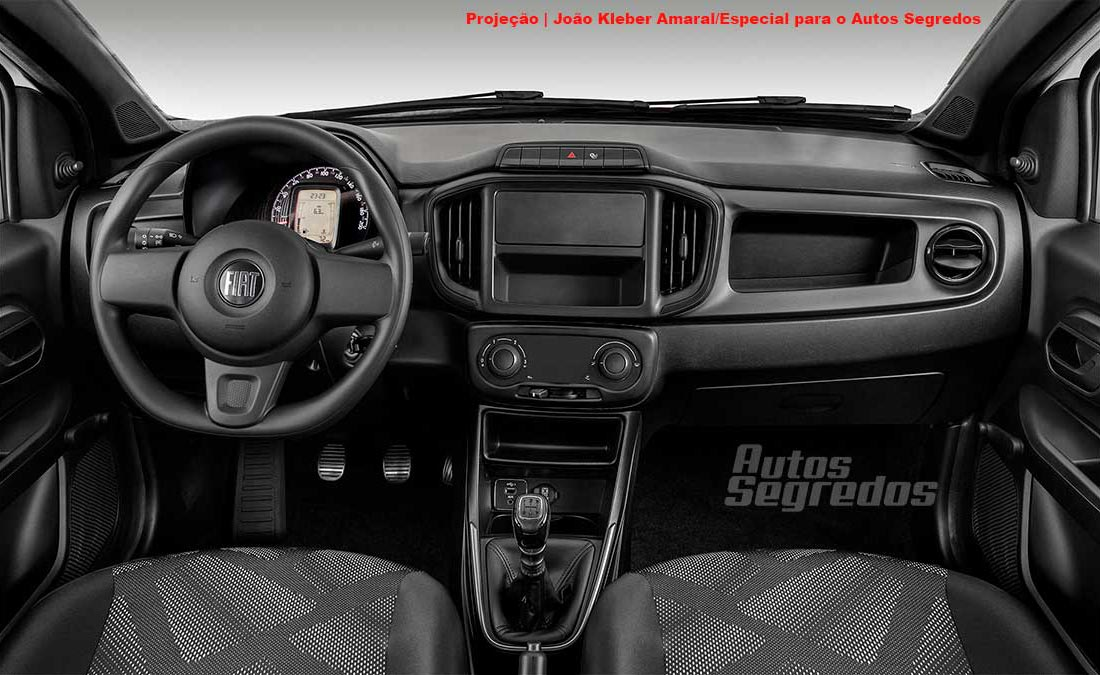 Interior Fiat Strada Working cabina simple AS