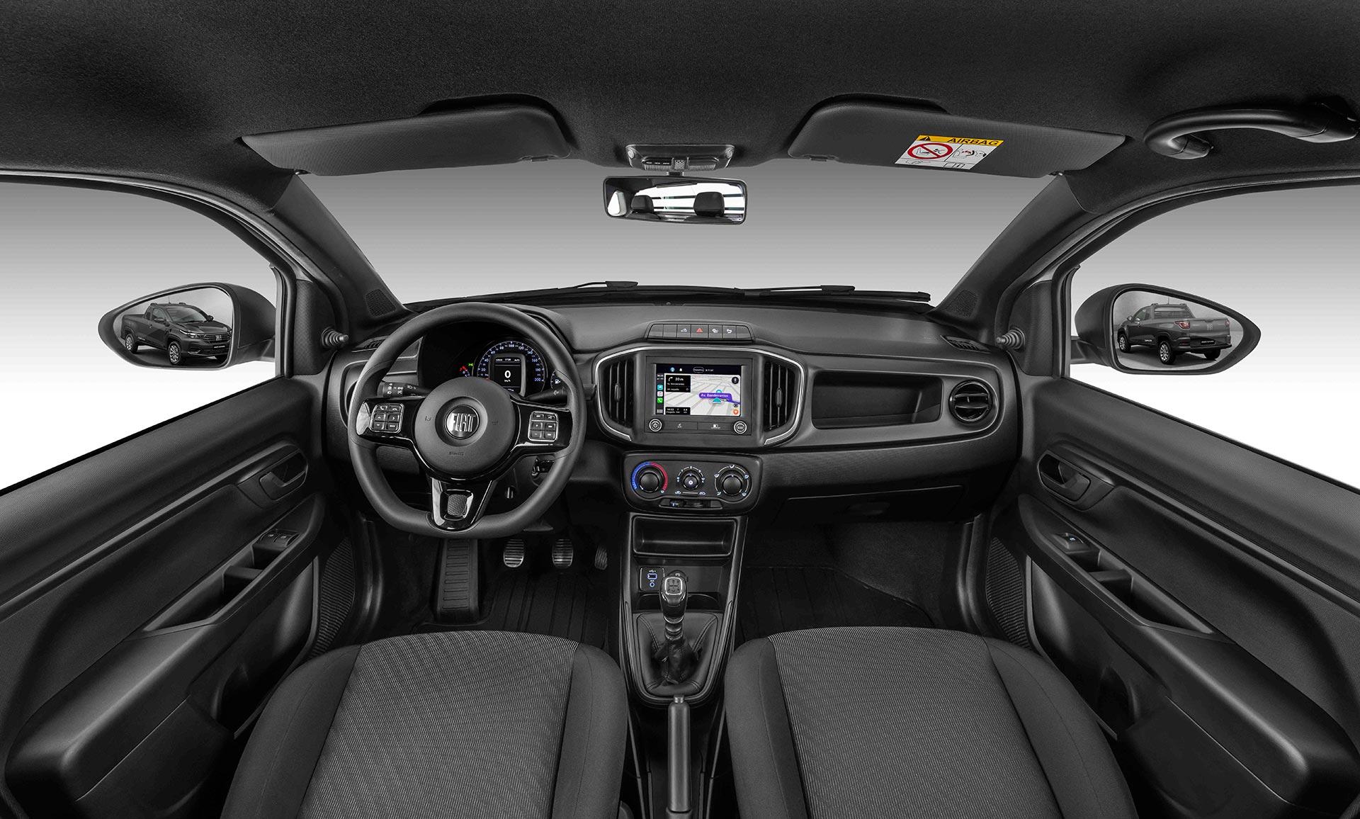 Interior Nueva Fiat Strada Endurance Cabina Plus