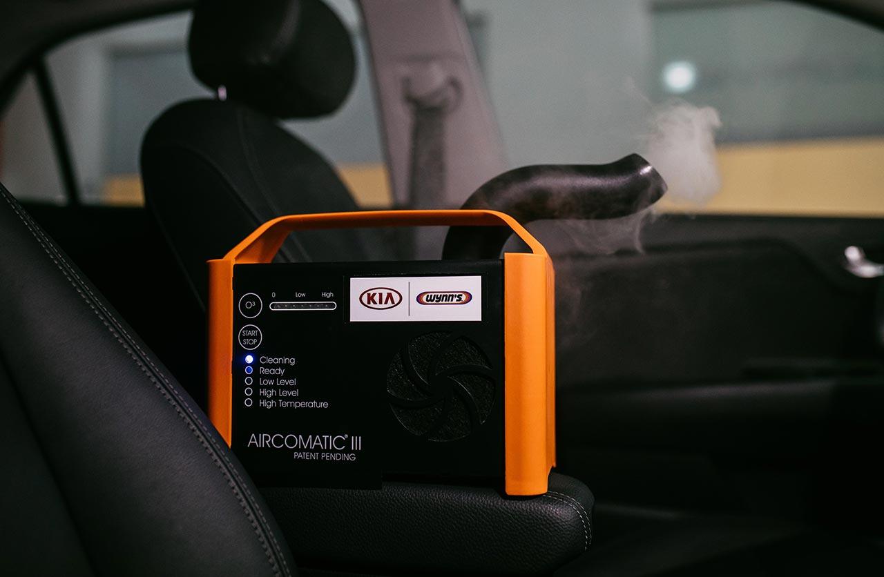 Kia sanitización vehículos cornavirus