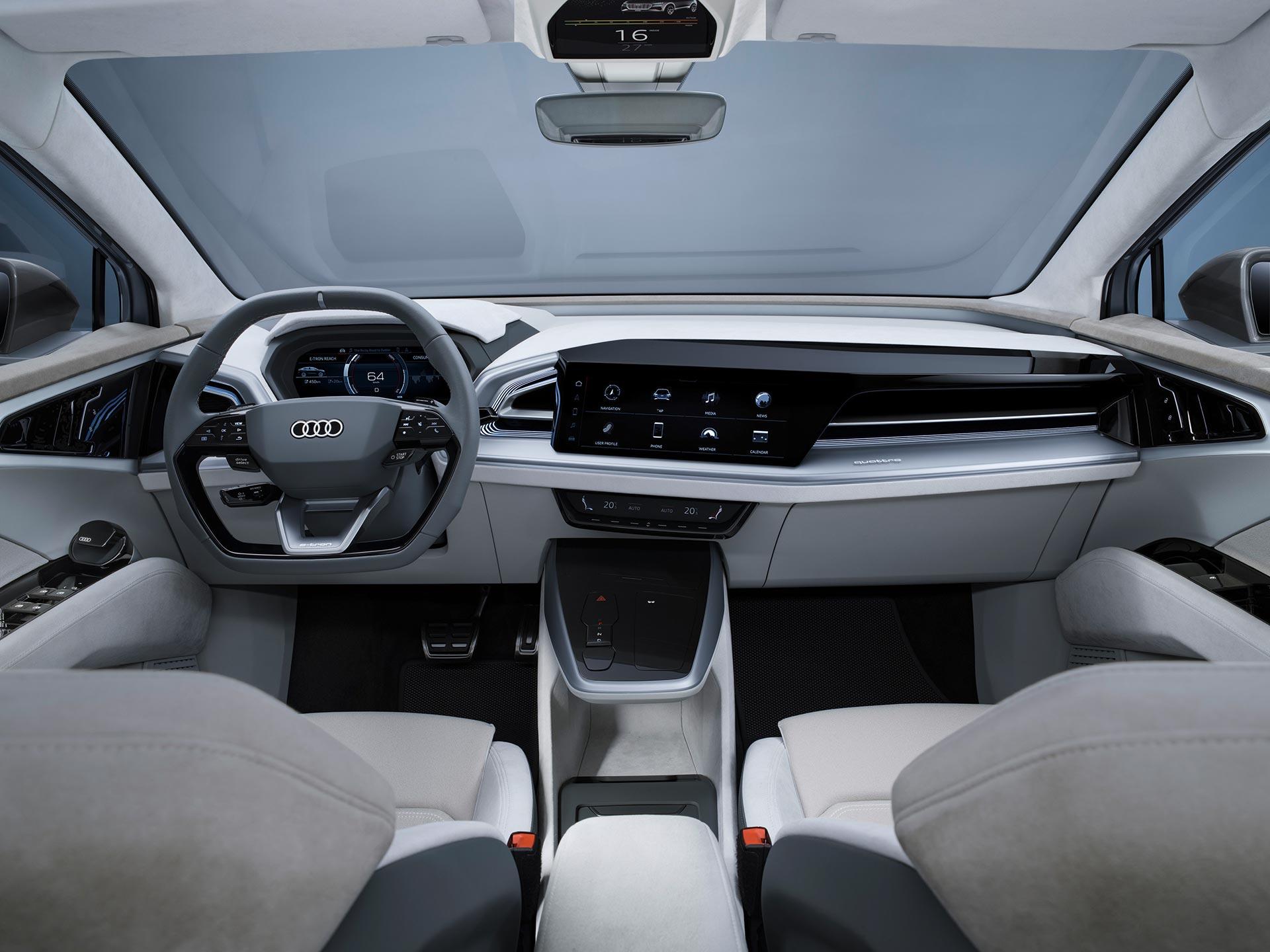 Interior Audi Q4 Sportback e-tron concept