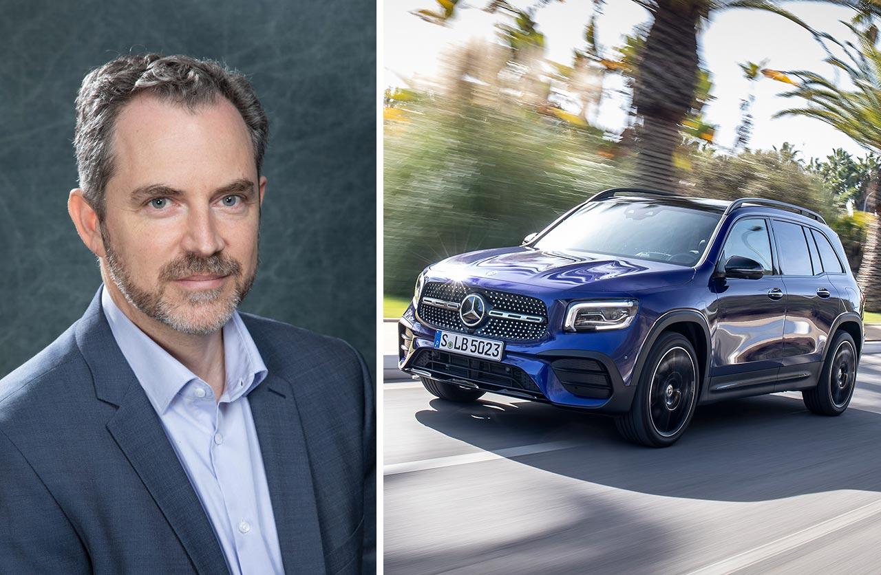 Christian Kimelman y el nuevo Mercedes-Benz GLB