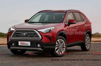 ¿Será así el Toyota Corolla Cross regional?
