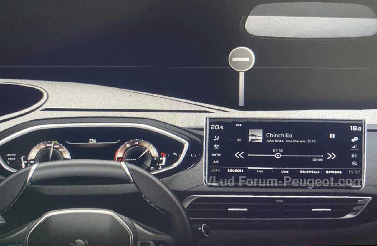 Interior Nuevo Peugeot 3008 restyling (2020)