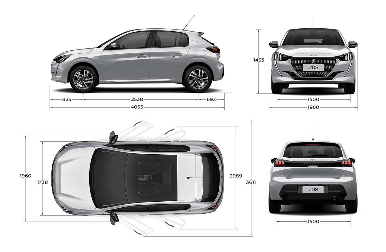 Nuevo Peugeot 208 dimensiones