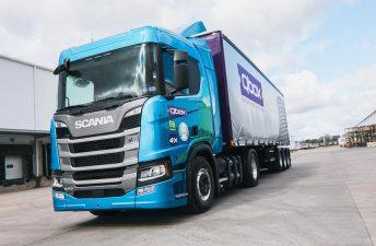 QBox recibió el primer camión de la línea Scania Green Efficiency en la Argentina