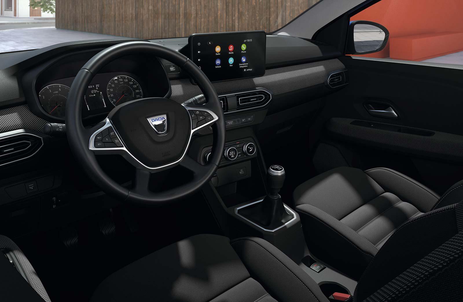 Interior nuevo Dacia Sandero 2021