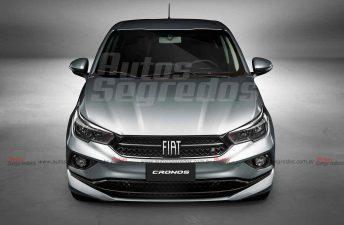 """Así sería la renovada """"cara"""" del Fiat Cronos"""