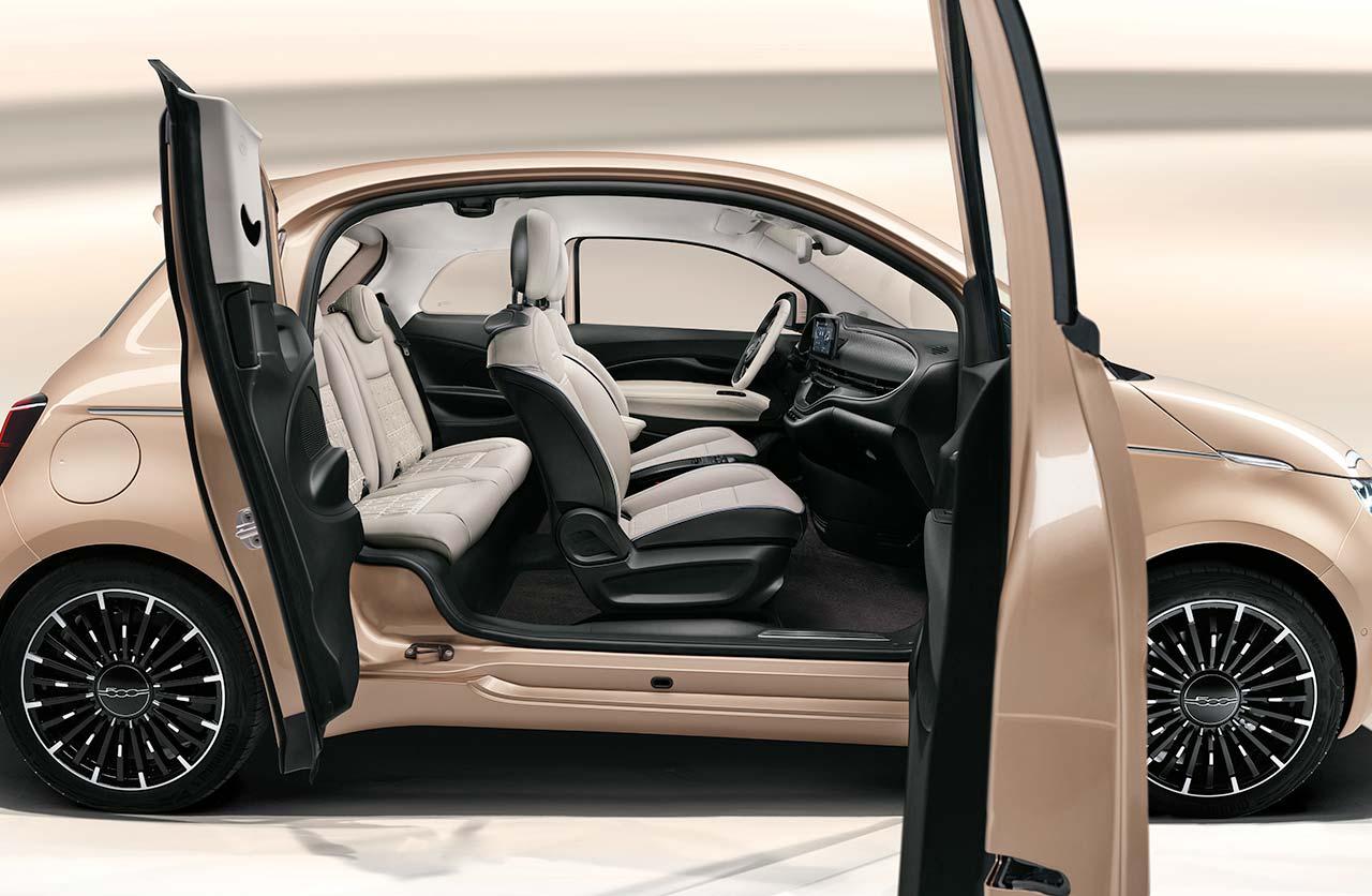 3+1: el Fiat 500 con tres puertas laterales