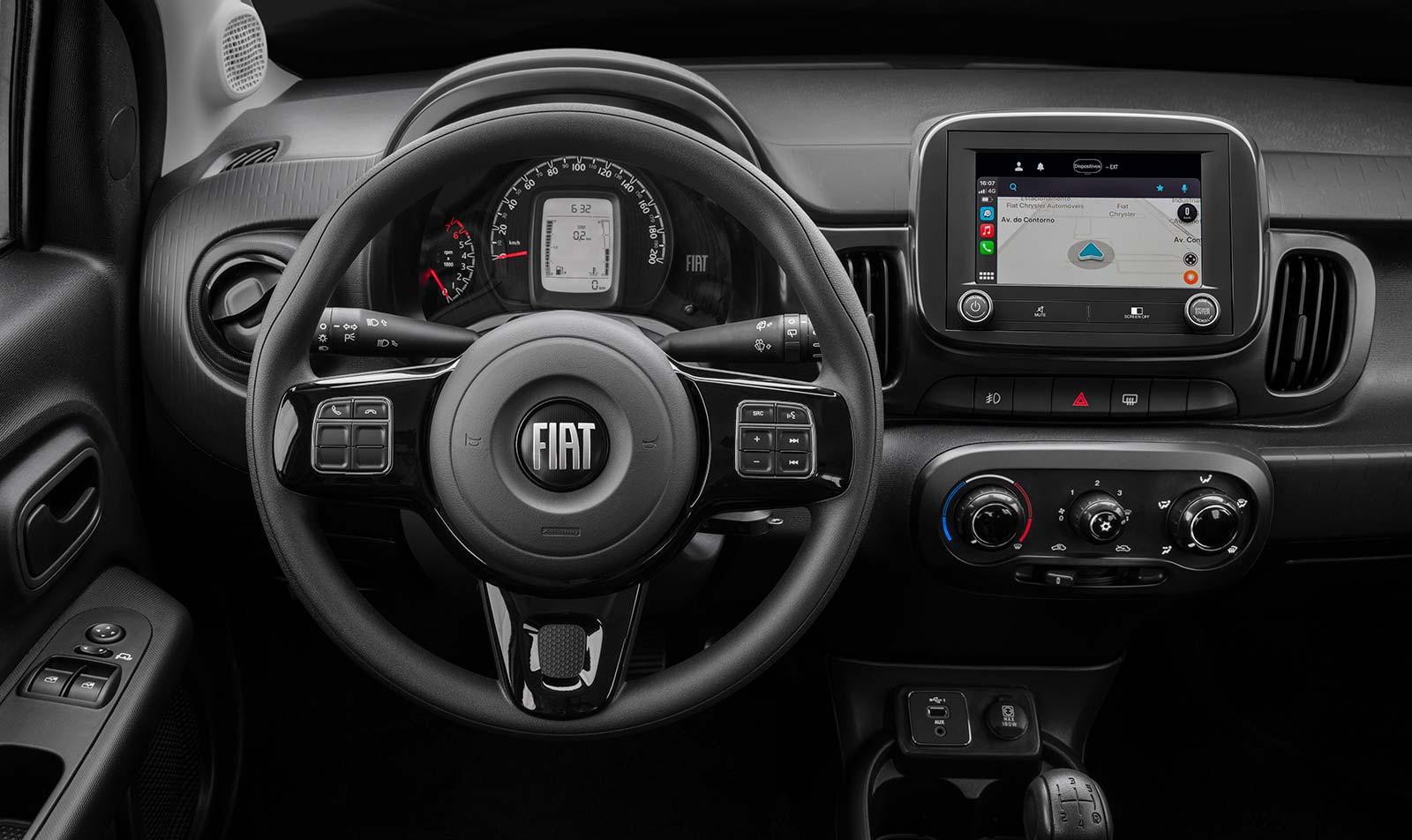 Interior nuevo Fiat Mobi 2021