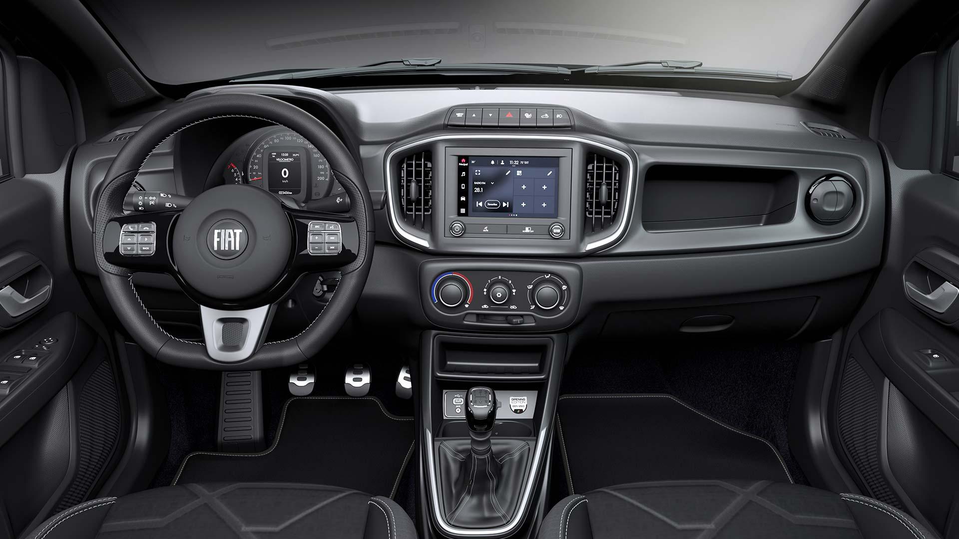 Interior Nueva Fiat Strada Opening Edition