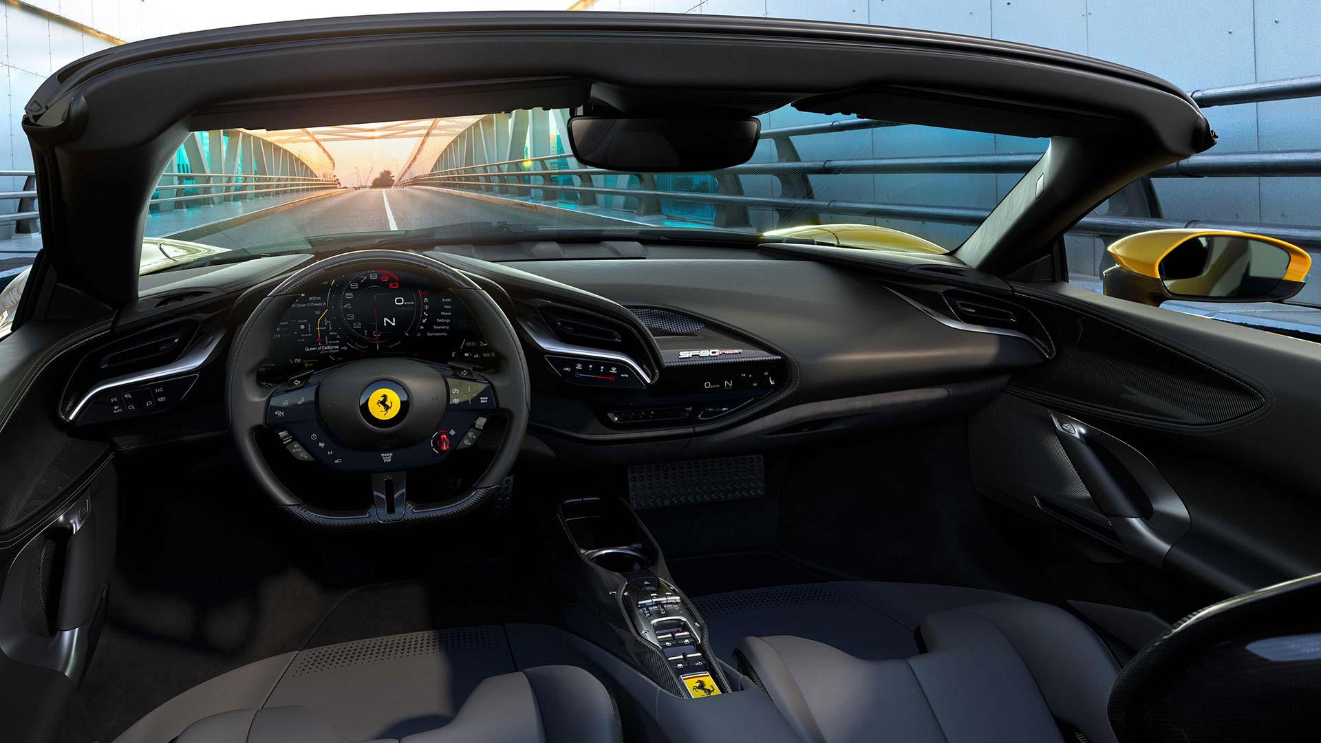 Interior Ferrari SF90 Spider