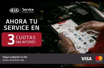 El service de Kia, ahora en cuotas sin interés