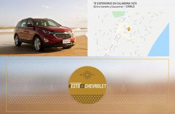 Chevrolet estará presente en Cariló en la temporada de verano
