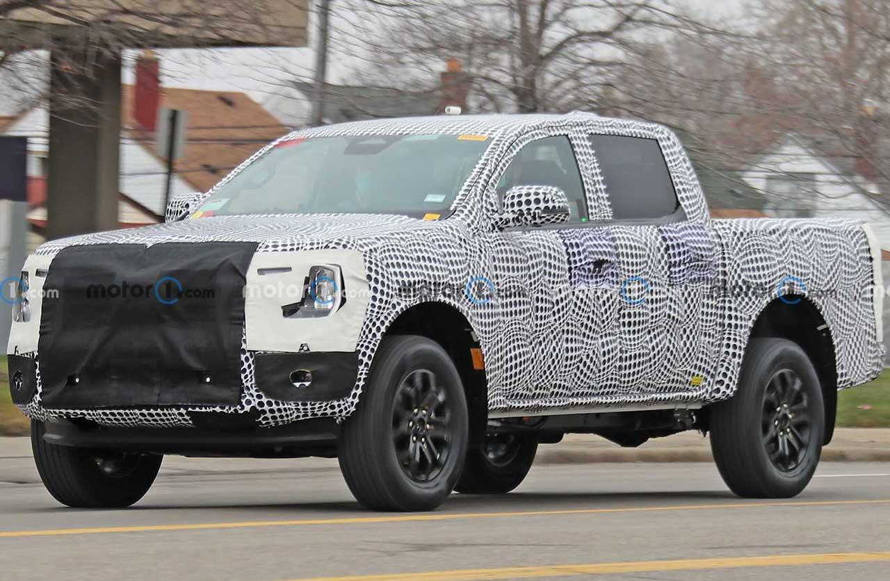 La nueva Ford Ranger (será nacional) salió a la calle