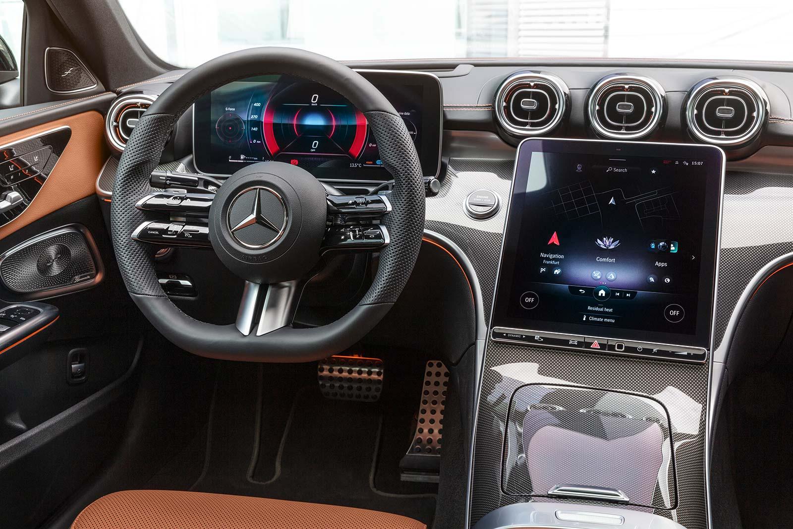 Interior Nuevo Mercedes-Benz Clase C 2022