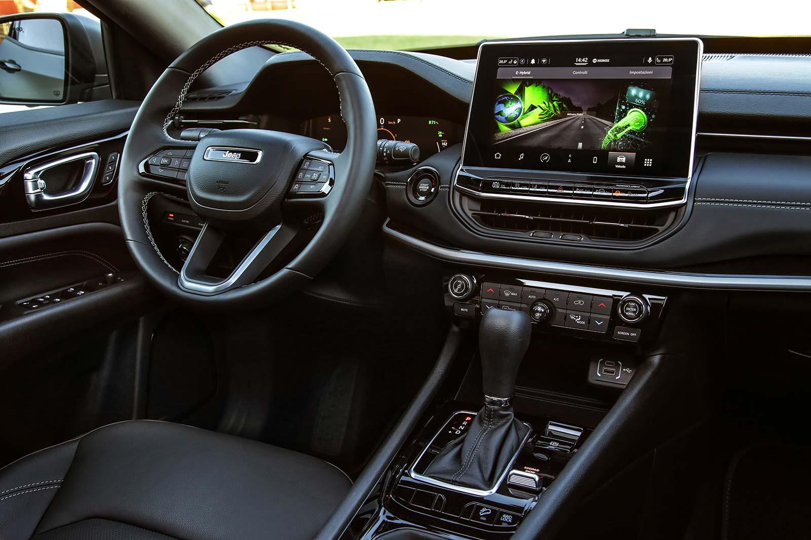 Interior nuevo Jeep Compass 80 Aniversario